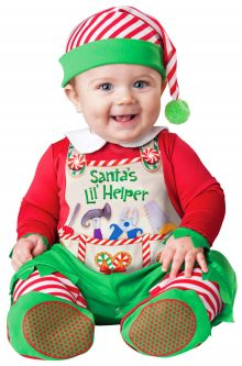 Santa's Lil' Helper Infant Toddler Christmas Costumes Baby's First Holidays