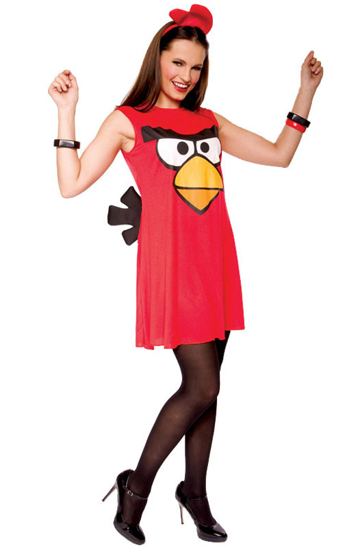 Angry Birds Sassy Red Bird Adult Costume (S ...