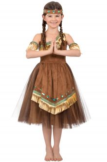 Childrens historical costumes purecostumes deluxe native american princess child costume solutioingenieria Image collections
