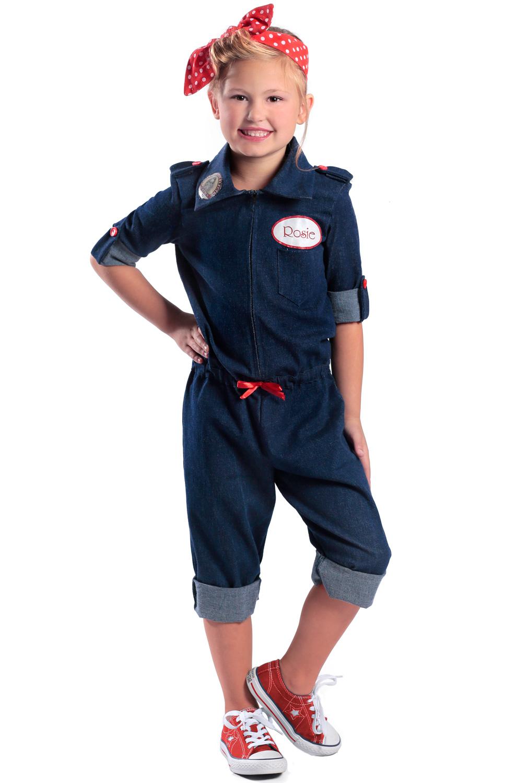 rosie the riveter child costume. Black Bedroom Furniture Sets. Home Design Ideas