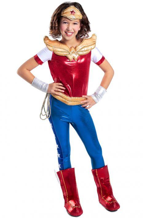 Wonder Woman Halloween Costume Kids.Premium Wonder Woman Child Costume