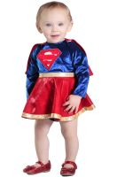 Supergirl Dress and Diaper Cover Infant/Toddler Costume