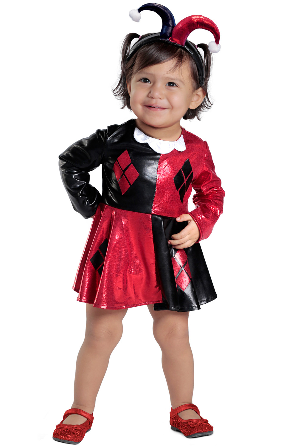 Harley Quinn Dress and Diaper Cover Infant/Toddler Costume ,  PureCostumes.com