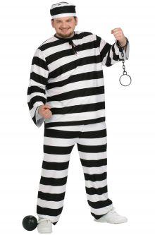 Prisoner convict costumes purecostumes guilty convict plus size costume solutioingenieria Choice Image