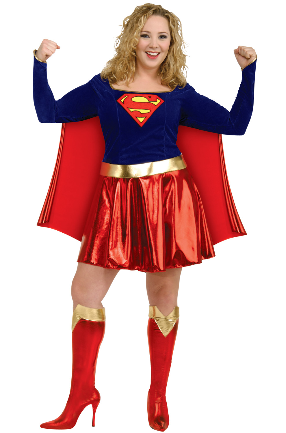 Deluxe Supergirl Plus Size Costume - PureCostumes.comSuperwoman Costumes For Teens