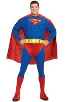 Superman Deluxe Muscle Chest Plus Size Costume