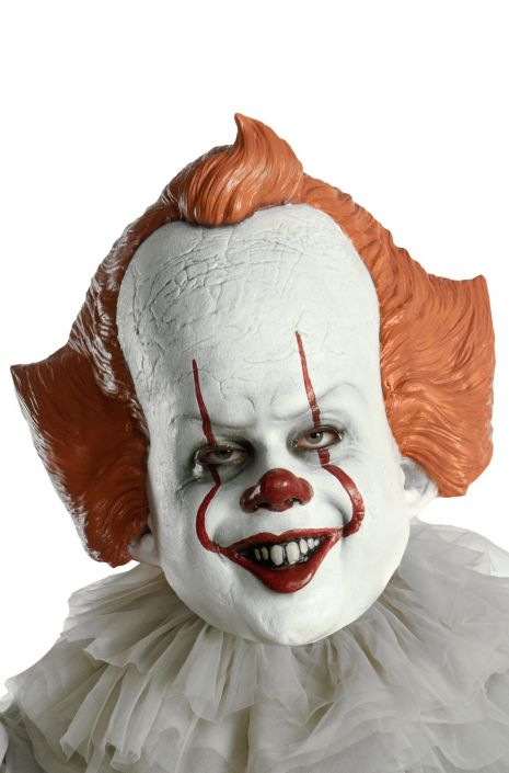 Rubies IT Movie Chapter 2 Adult Pennywise Vacuform Mask One Size As Shown
