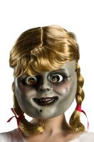 Annabelle Comes Home Adult Mask with Wig