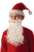 Child Santa Claus Beard and Moustache