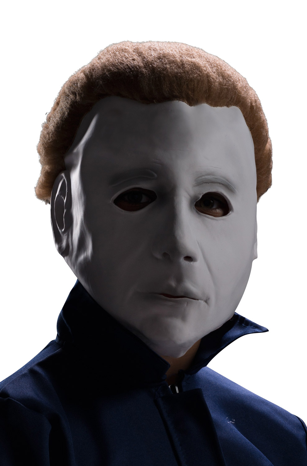 Michael Myers Vinyl Child Mask With Hair Purecostumes Com