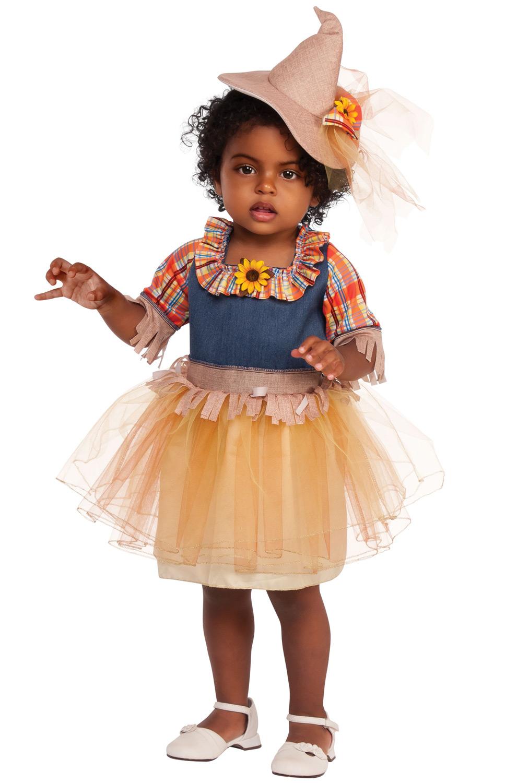 California Costume Pumpkin Patch Scarecrow Toddler Girls Halloween Costume 00177