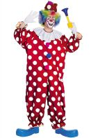Dotted Clown Adult Costume
