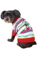 Candy Cane Sweater Pet Costume