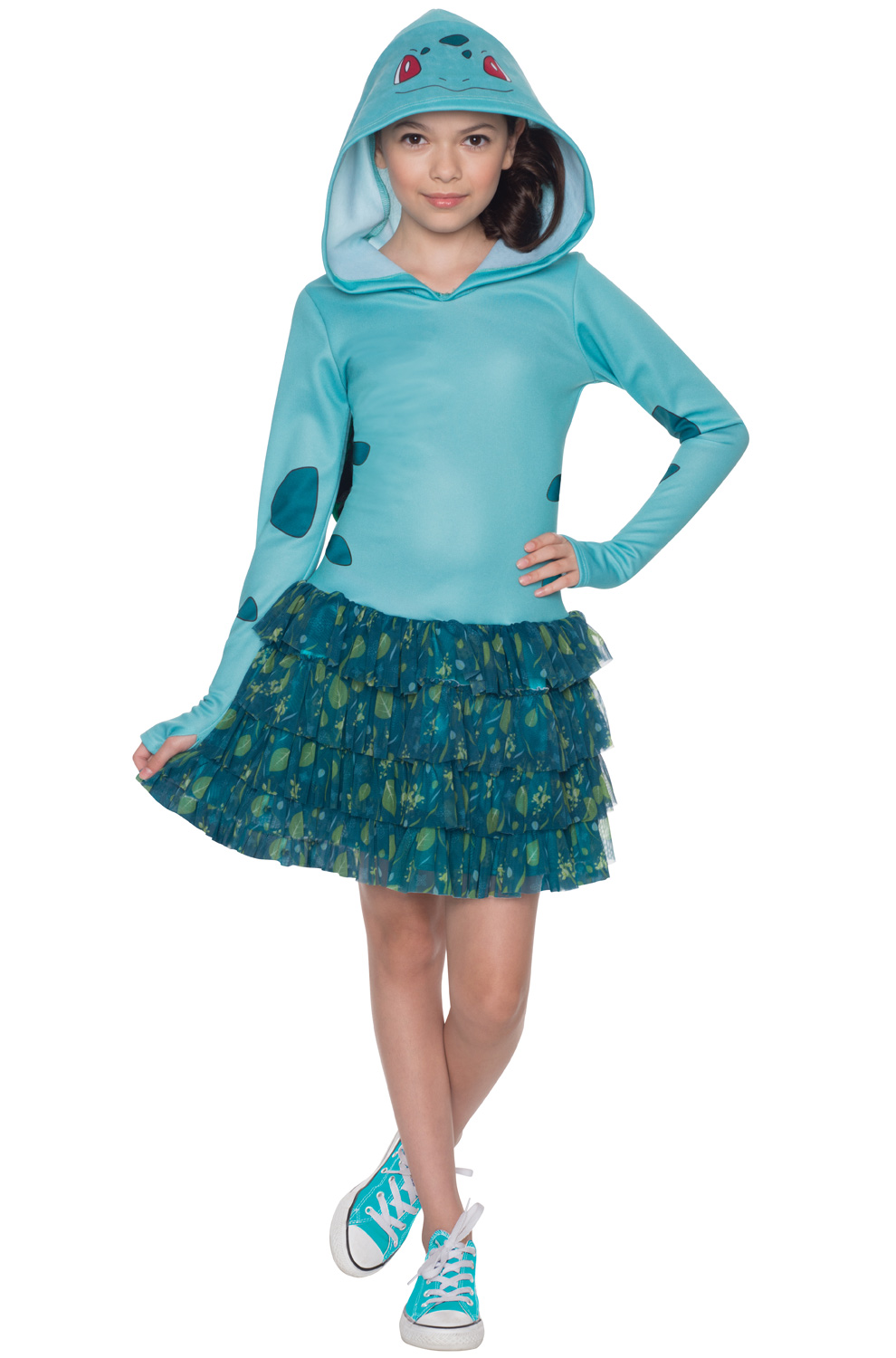 Squirtle Hoodie Dress Child Costume - PureCostumes.com