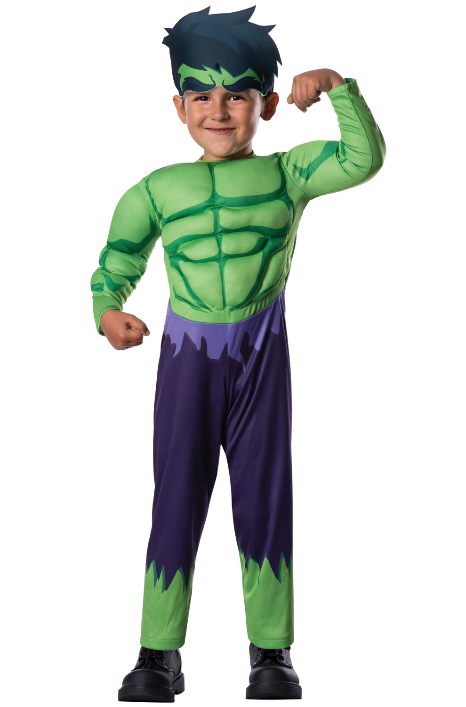 Deluxe hulk toddler costume for Easy toddler boy halloween costumes