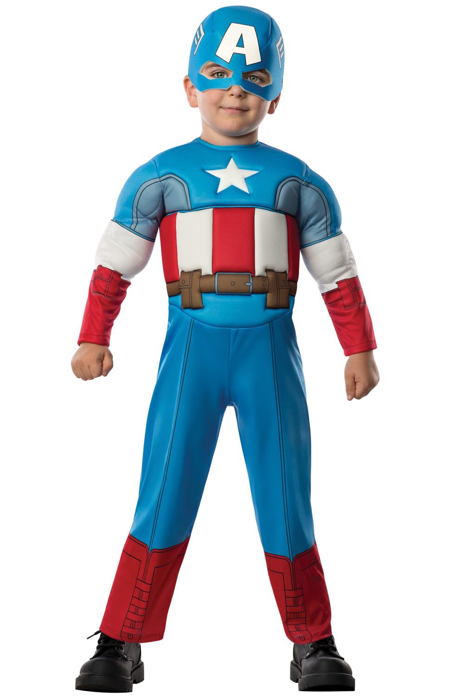 Deluxe Captain America Toddler Costume - PureCostumes.com