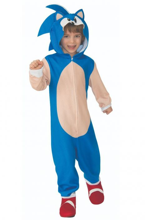 Sonic The Hedgehog Movie Oversized Jumpsuit Child Costume