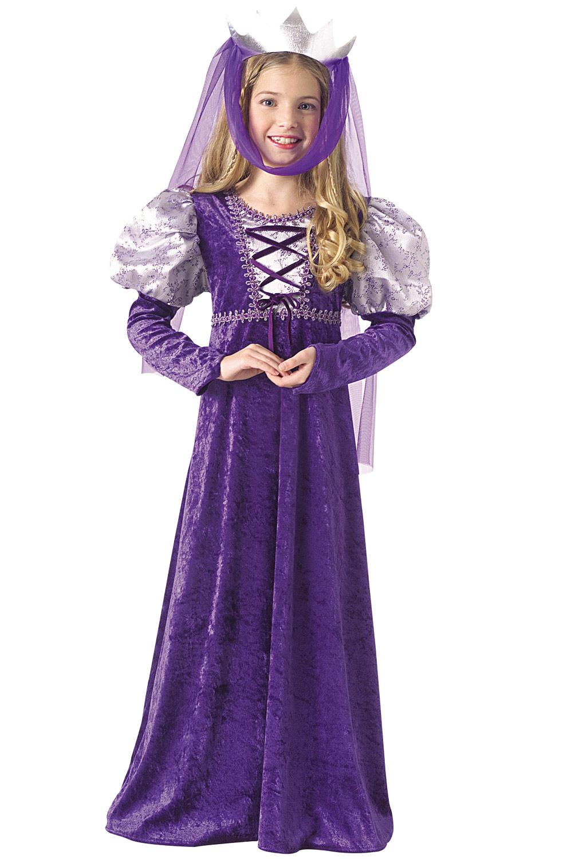 Brand New Purple Renaissance Medieval Queen Child Costume | eBay