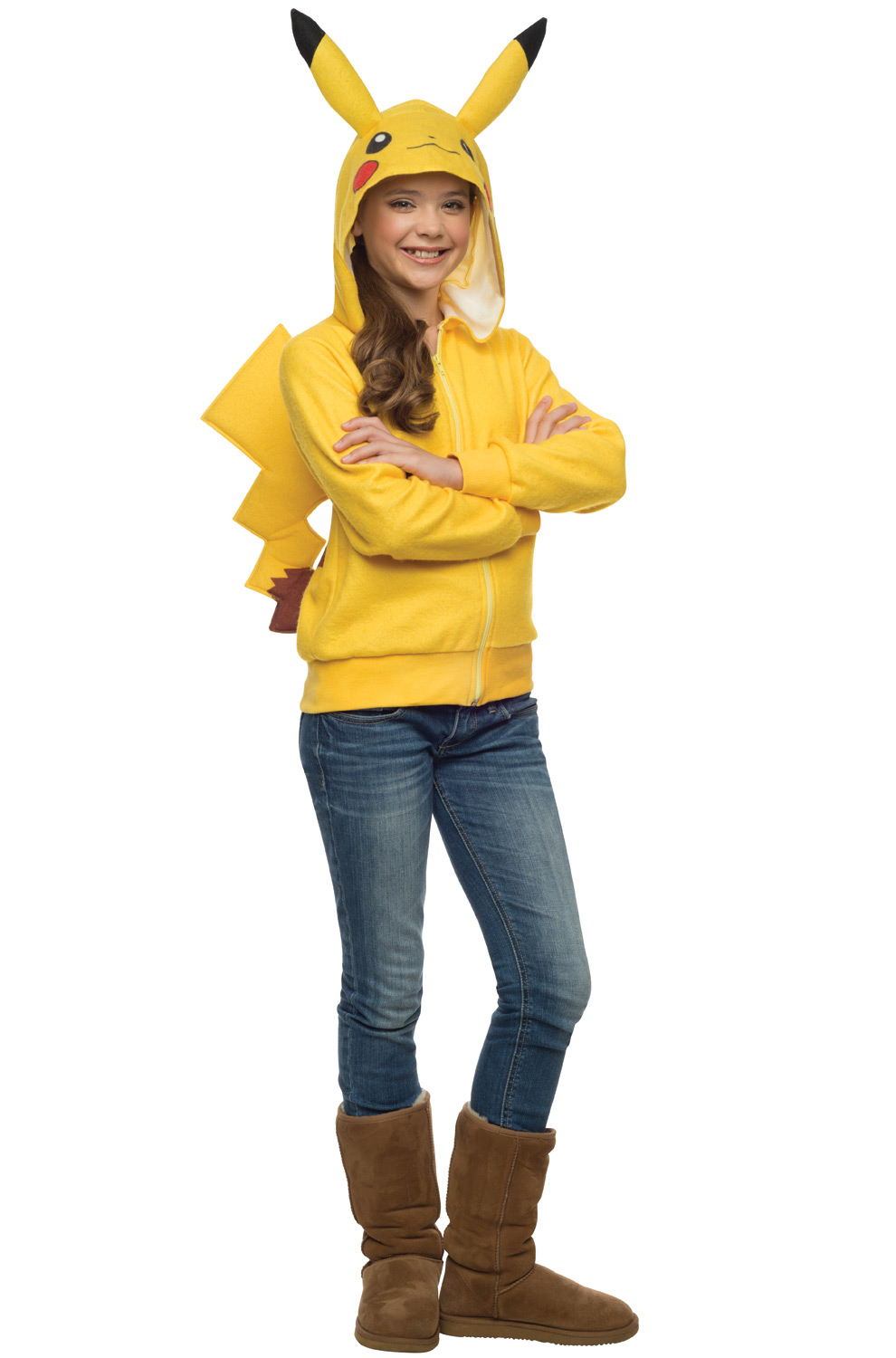 sc 1 st  Pure Costumes & Pikachu Hoodie Tween Costume - PureCostumes.com