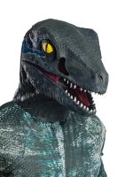 Deluxe Velociraptor Blue Latex Adult Mask