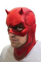 Deluxe Daredevil Adult Overhead Latex Mask