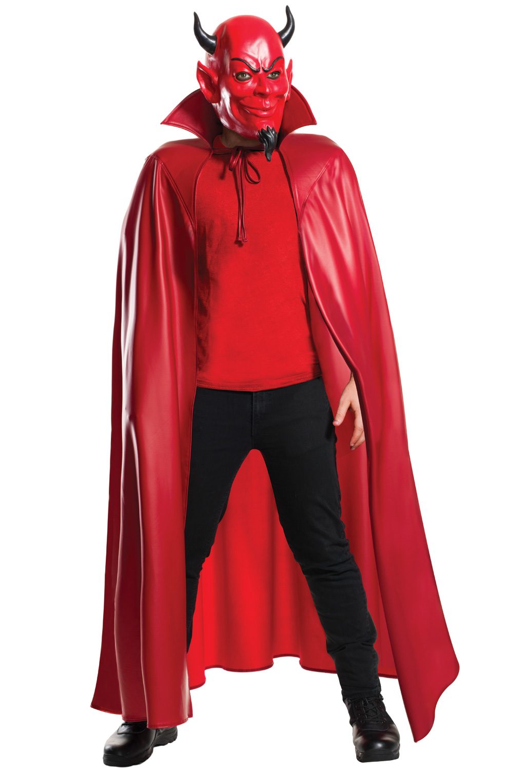 deluxe red devil mask and cape set