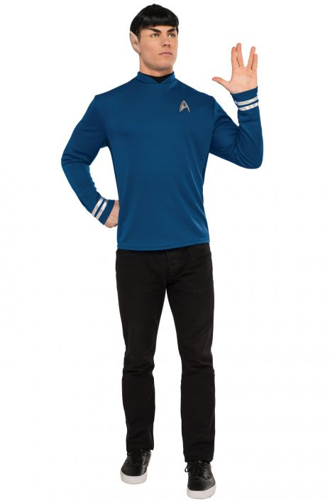 NEW Star Trek Movie Scotty Red Shirt Deluxe Adult Costume Shirt Large Comic Con