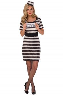 Prisoner convict costumes purecostumes prisoner woman adult costume solutioingenieria Choice Image