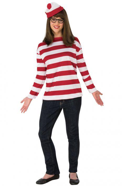2018 Whereu0027s Waldo Wenda Plus Size Costume  sc 1 st  Pure Costumes & 2018 Whereu0027s Waldo Wenda Plus Size Costume - PureCostumes.com