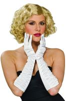 Luxurious Satin Gloves (White)