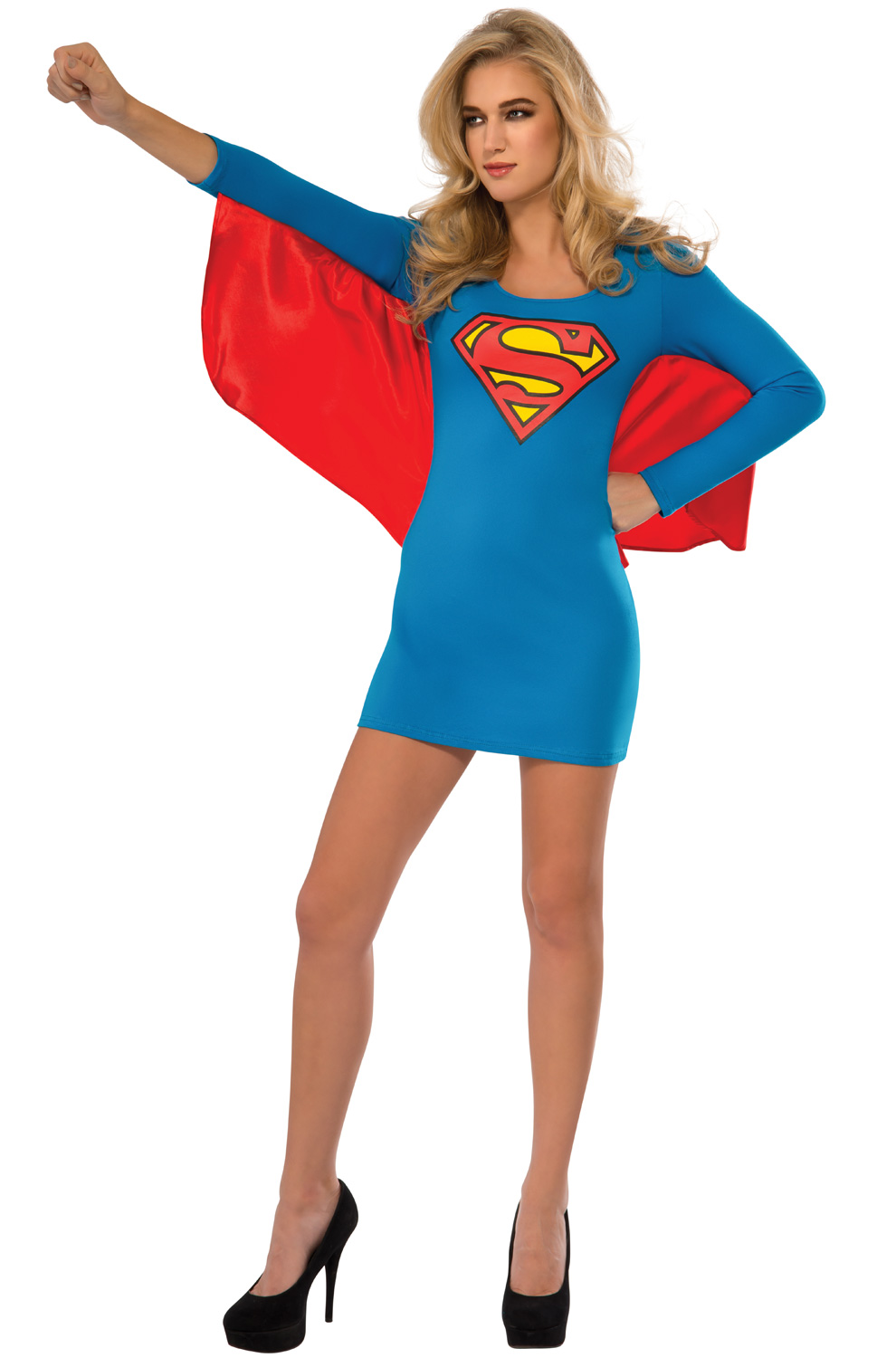 sc 1 st  Pure Costumes & Supergirl Cape Dress Adult Costume - PureCostumes.com