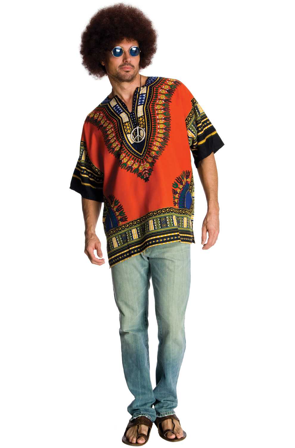 peaceful hippie adult costume  purecostumes
