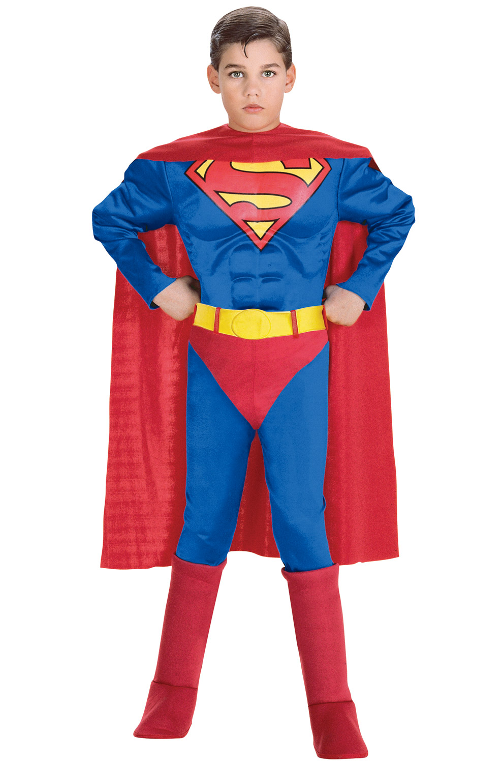 superman deluxe muscle chest superman toddler child costume. Black Bedroom Furniture Sets. Home Design Ideas