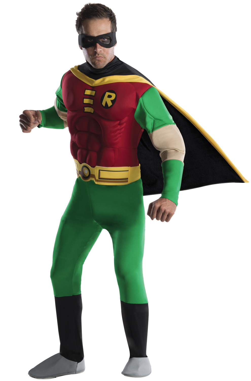 Teen Titans Deluxe Muscle Chest Robin Adult Costume  sc 1 st  Pure Costumes & Teen Titans Deluxe Muscle Chest Robin Adult Costume - PureCostumes.com