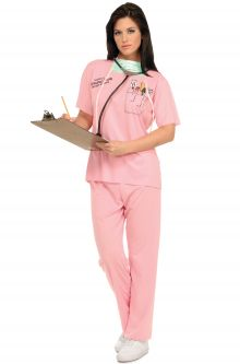 COVID-19-Appropriate costumes E.R. Nurse Adult Costume