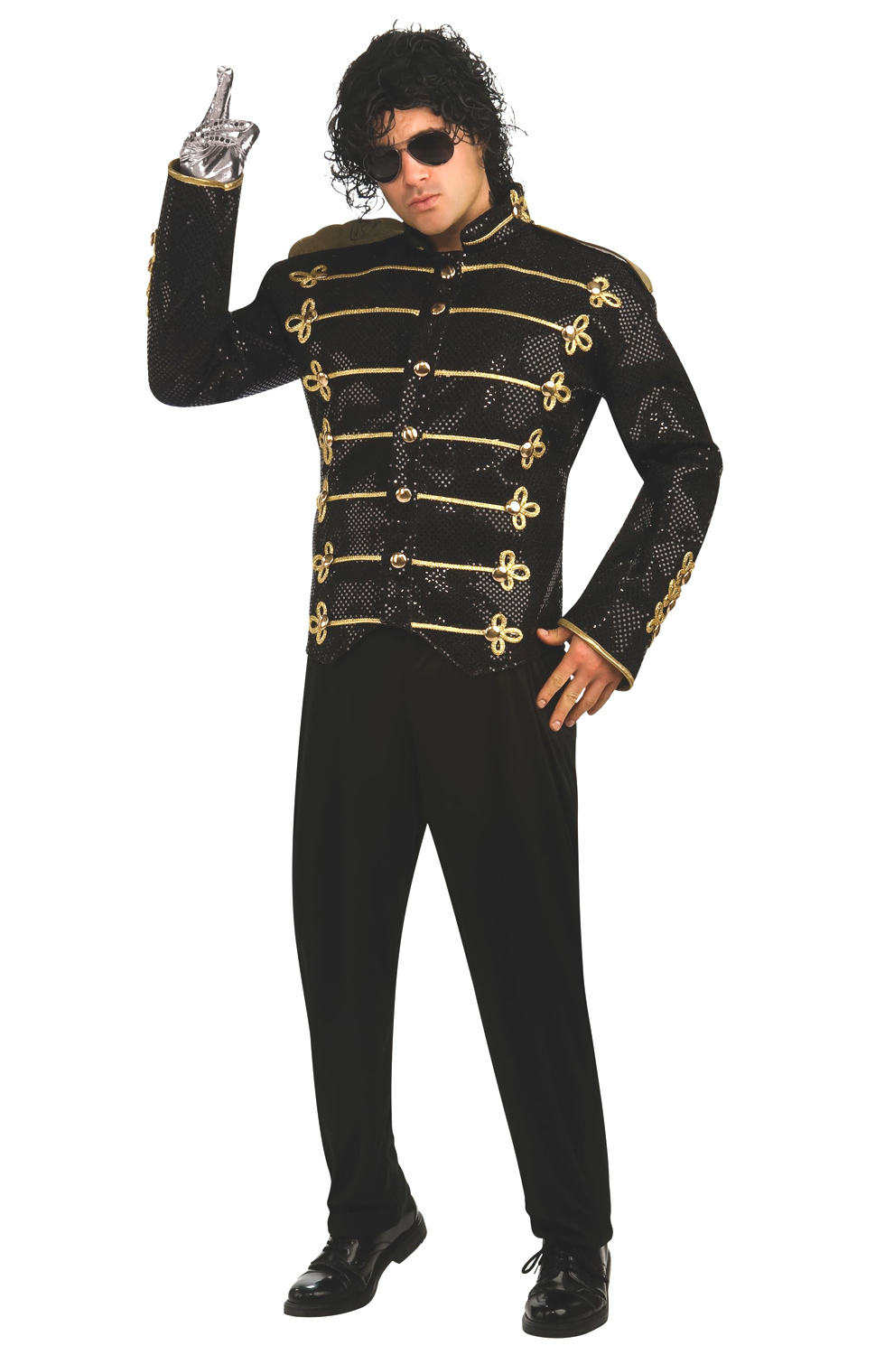 Michael Jackson Deluxe Black Military Jacket Adult Costume  sc 1 st  Pure Costumes & Michael Jackson Deluxe Black Military Jacket Adult Costume ...