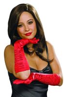 Luxurious Satin Gloves (Red)