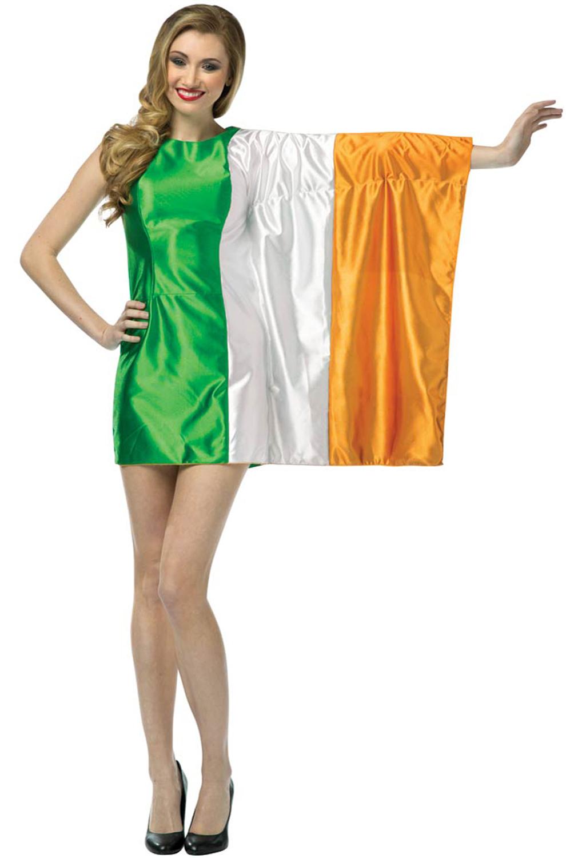Ireland Flag Dress Adult Costume Purecostumes Com