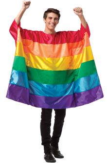 Rainbow Flag Tunic Adult Costume Gay Pride Fashion