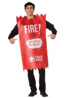 Taco Bell Sauce Packet Fire Adult Costume