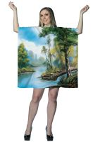 Bob Ross Painting Dress Adult Costume