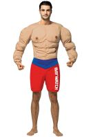 Baywatch Muscles Lifeguard Suit Adult Costume