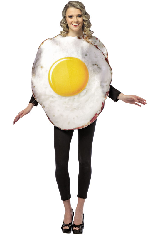 Get Real Fried Egg Adult Costume - PureCostumes.com