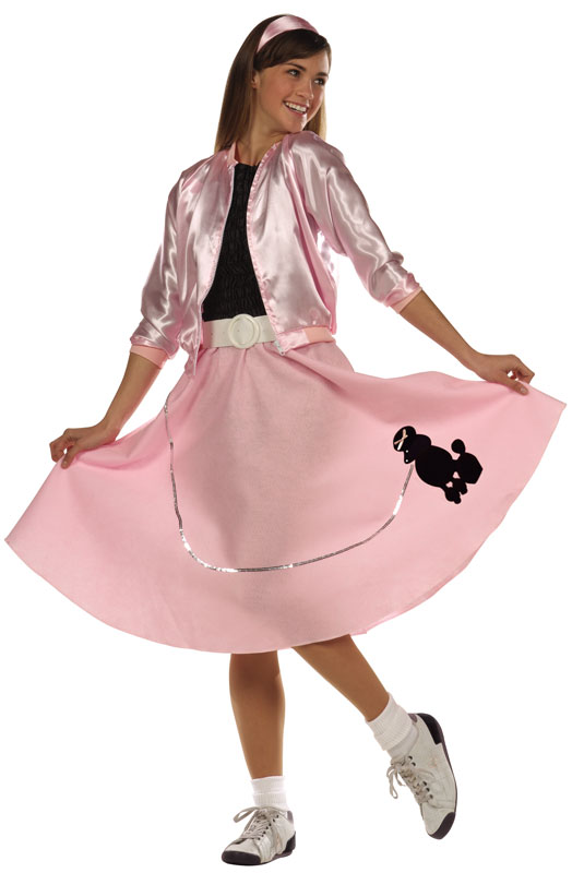 Poodle Skirt Teen Costume for Halloween - Pure Costumes