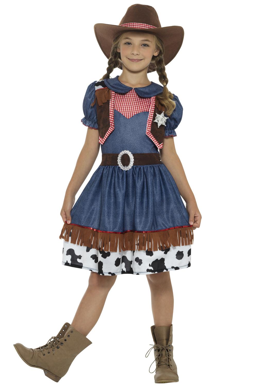 Brand New Western Texas Rosie Cowgirls Child Costume Small