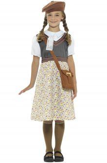 Back to School Costumes WW2 School Girl Child Costume