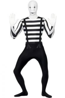 COVID-19-Appropriate costumes Mime Second Skin Adult Costume