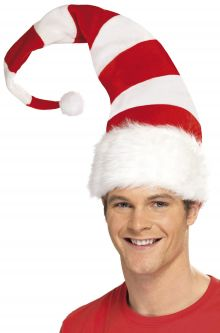 striped santa hat - Funny Christmas Hats Adults