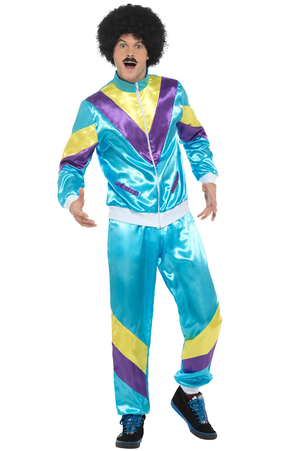 80s Fashion Male Shell Suit Adult Costume - PureCostumes.com