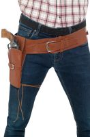 Adult Faux Leather Single Holster with Belt (Tan)